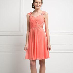Sweetheart Neckline Short Evening Dress CD3832